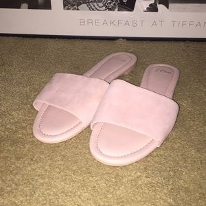 J. Crew Cora Suede Slide Sandal with Rubber Bottom